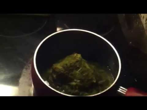 Making spinach.