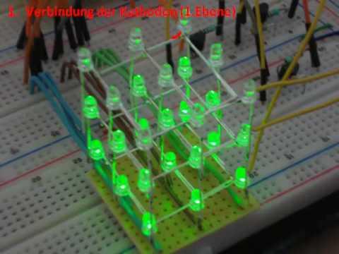 3D LED Cube - LED Würfel + Bauanleitung