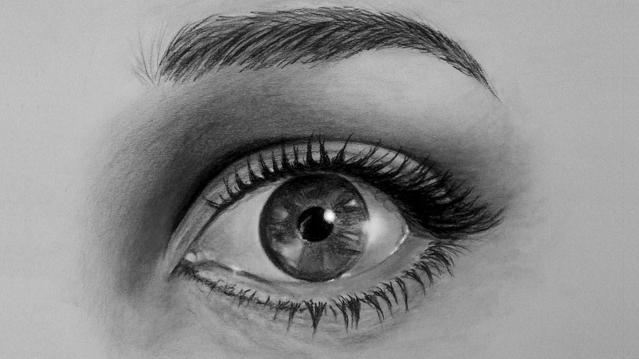 Tutorial come disegnare un occhio realistico passo per for Immagini da copiare a mano