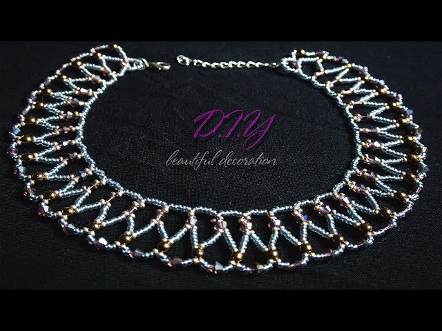 How to make Pearl Beaded Necklace    Diy    Jewellery Making     Easy beading tutorial   