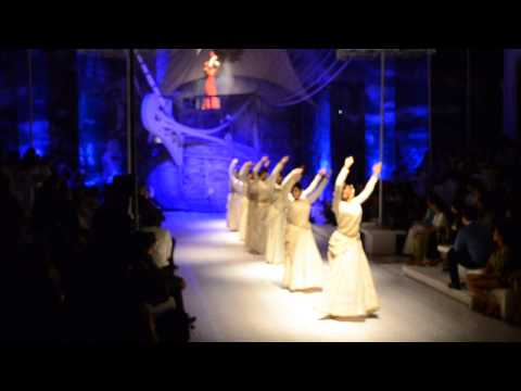 Astha Dixit and her co-dancers opening the J J Valaya's Asia Bridal Fashion inaugural 2013