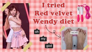 I TRIED RED VELVET WENDY DIET AKA WHEESUNG 13 DAY DEADLY DIET | LOSE 1KG IN A DAY