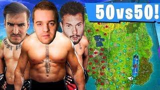 LEH & IZAK & ROJO I USTAWKA 50 VS 50! - FORTNITE