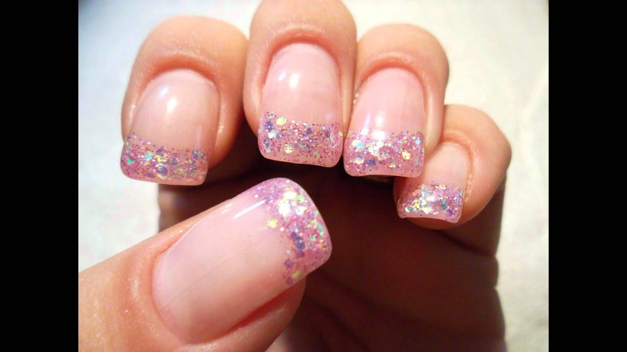 Pink Glitter Gel Nails Pink Glitter uv Gel Review