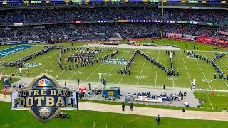 Notre Dame marching band halftime performance at Yankee Stadium vs. Syracuse | NBC Sports