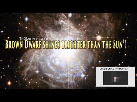 Brown Dwarf has a mega Solar Flare &  shines Brighter than the Sun!