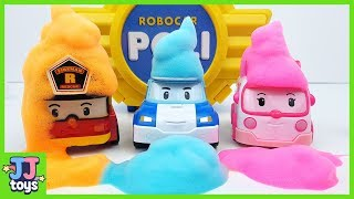 Robocar POLI & Friends Color Bubble Play. Car toy video for Kids. [JJ toys]