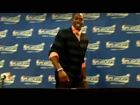 Orlando Magic Dwight Howard: Dwight Howard postgame outfit,