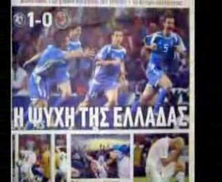 Euro 2004-Greece-After Semifinal-Newspapers+Radio