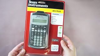 Just got my Texas Instruments BA II PLUS -  Financial Calculator, 10-Digit LCD [UNBOXING]