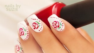 How to Paint Simple Nail Polish Roses