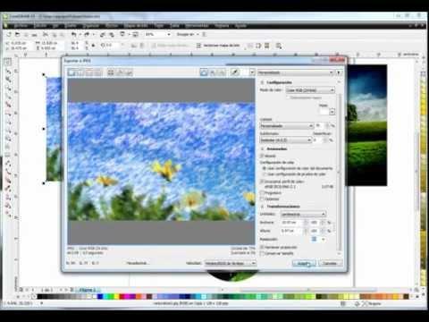 Conociendo CorelDraw X5 Video 6 - Guardar (almacenar) y exportar archivos