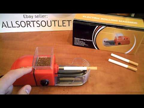 How to use the Electric Cigarette/Tobacco Rolling Machine available from Ebay seller Allsortsoutlet