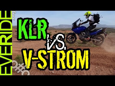 Kawasaki KLR 650 vs. Suzuki V Strom 650 DEATHMATCH! o#o