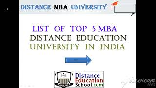 List of Top Distance Education University in India