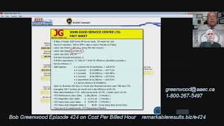 RR 424 Bob Greenwood Cost Per Billed Hour Video