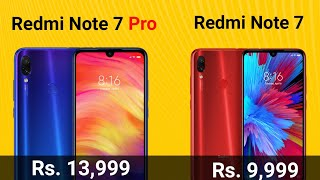 Redmi Note 7 Pro & Redmi Note 7 Price,Launch date & Specs in India|Review of Specification, Camera.