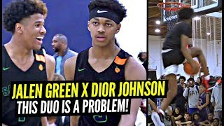 Jalen Green & Dior Johnson TEAM UP To Make BEST BACKCOURT In Nike EYBL!?