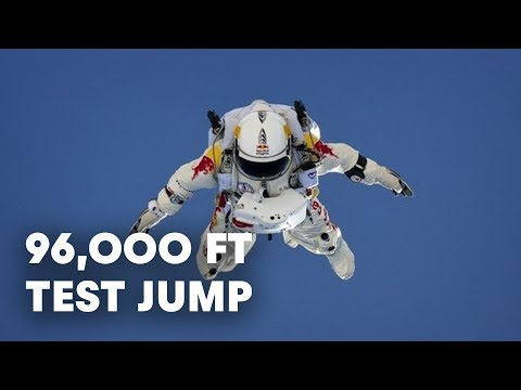 96,000 ft Test Jump Success - Red Bull Stratos 2012