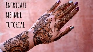 How to create intricate mehndi henna design   Step by step tutorial