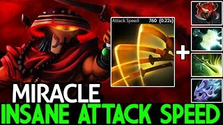Miracle- [Juggernaut] Insane Attack Speed Madness Omnislash 4 Hit/sec 7.21 Dota 2