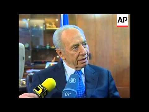 German FM Steinmeier meets President Peres