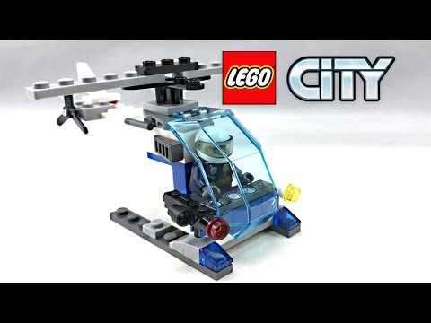 LEGO City Police Helicopter review! 2017 set 30351!