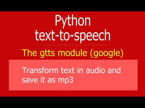 Python - Transform text in mp3 with Google Text to Speech gTTS