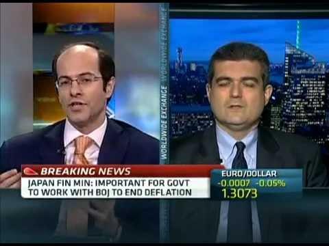 Ashraf Laidi on CNBC Discussing FX & Equity Correlations - Jan 9, 2013 Chart