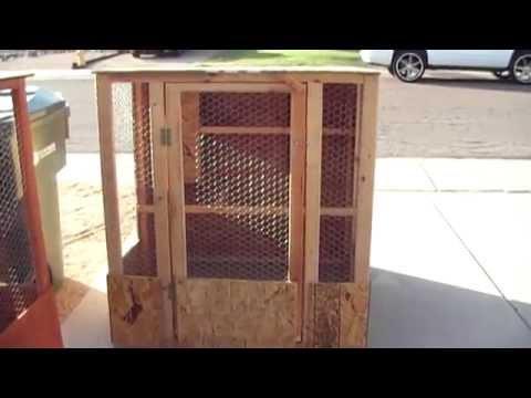 Basic Chicken Coop 4ft by 4ft $140 at Phoenix Chicken Coop.com
