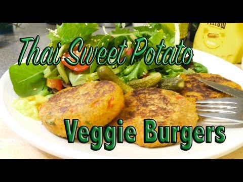 Thai Sweet Potato Vegan Burgers | THE LIVING FRUITS