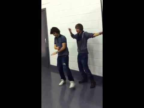Harry Styles and Liam Payne dancing at Sugar Magazine shoot