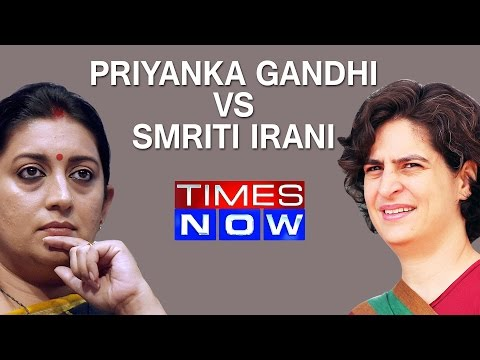 Priyanka Gandhi hits out at Smriti Irani