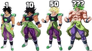 Broly All Forms POWER LEVEL Multipliers