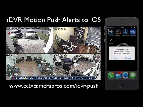 CCTV Camera DVR Motion Push Notification to iOS Using Motion Detection