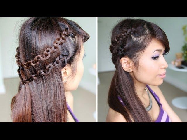 Easy Braided Hairstyles For Medium Hair How to Snake Braid Headband