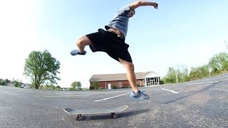 Friend Attempts to Skateboard for the First Time!