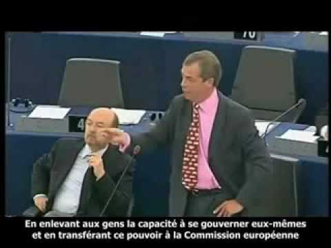 UKIP Nigel Farage disgusted with Polish Prime minister Donald Tusk - July 2011