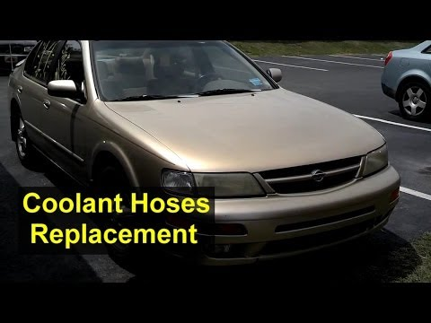 Nissan Maxima Radiator. Heater and other Coolant Hose Replacement - Auto Repair Series