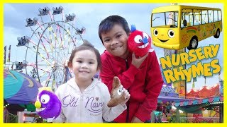 Child's Play Fun Fair Rides Wheels on the Bus Nursery Rhymes Education Activities For Kids