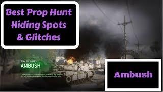 Call of Duty MWR Best Prop Hunt Hiding Spots & Glitches! (Ambush)