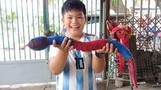 Đồ chơi trẻ em bé pin săn rắn hổ mang khổng lồ ❤ PinPin TV ❤ Baby toys hunting Cobra giant