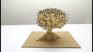 How to make A Tree From Matchsticks