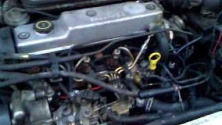 Ford Mondeo 1.8 TD (dec. 1996,  MK2) Cold start part3
