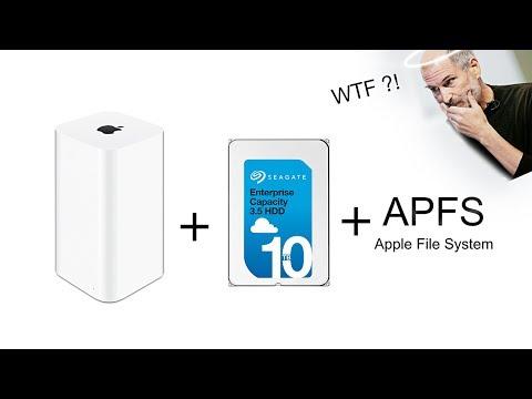 Замена HDD 10TB Time Capsule форматирование APFS тест ремонт repair upgrade