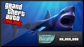 "GTA 5 Online - New! ""MEGALODON"" Shark Card - 8 MILLION Dollars! (GTA 5 Online)"