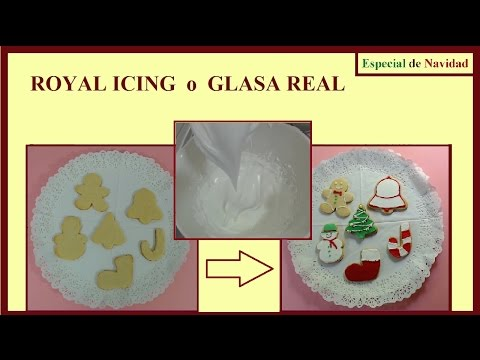 "Royal Icing o Glasa Real - ""Galleta Jengibre para Navidad"" (HD)"