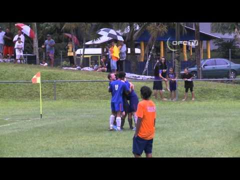 2013 OFC Champions League Preliminary MD3 Tupapa Maraerenga FC vs Kiwi FC Highlights