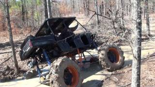 POLARIS RANGER ON TRACTOR TIRES PULLS RIDICULOUS MUD HOLE at HIGHLIFTER PARK!
