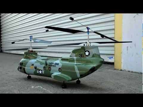 Helicoptero 4 canais Chinook 38# Walkera. 2.4Ghz com rotores em aluminio e bateria de Lipo